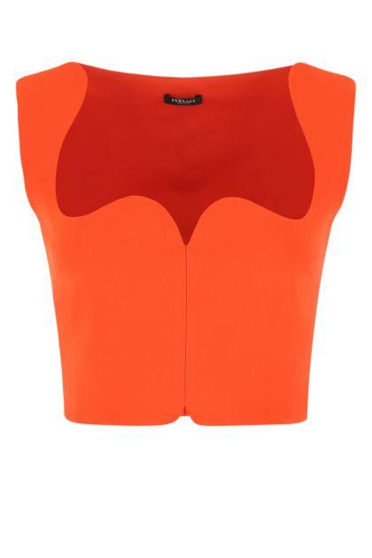 Coral stretch viscose top