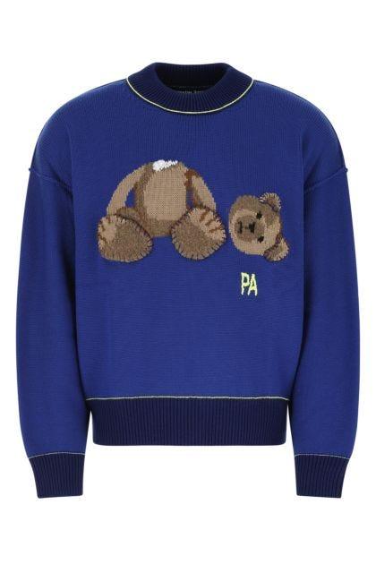Electric blue wool sweater