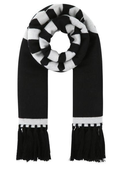 Black wool blend scarf