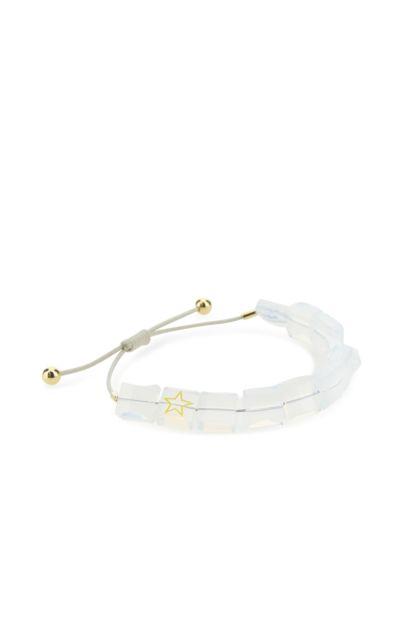 White Letra bracelet