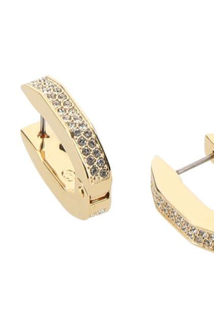 Embellished metal Dextera earrings