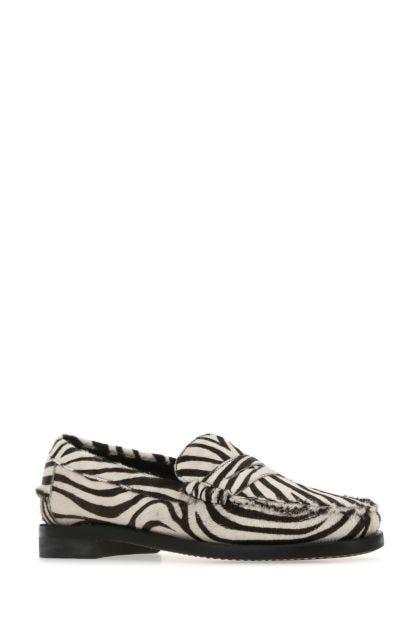 Printed calf hair Dan Wild loafers