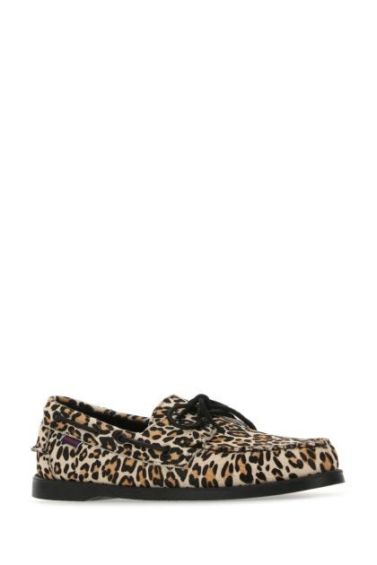Printed calf hair loafers
