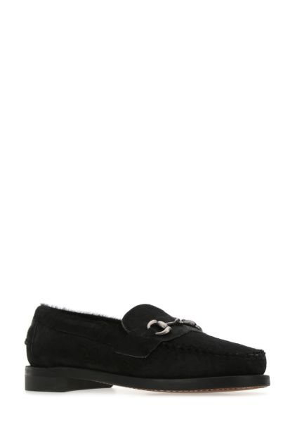 Black calf hair Joe Wild loafers