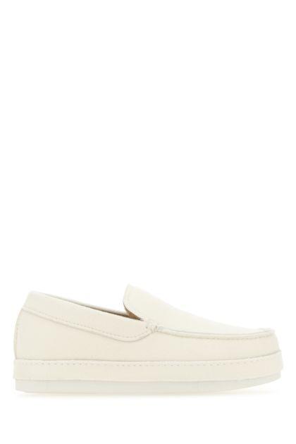 Ivory felt loafers