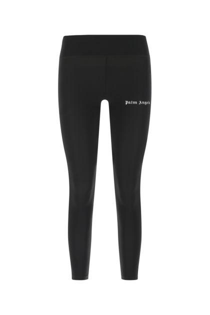 Black stretch nylon leggings