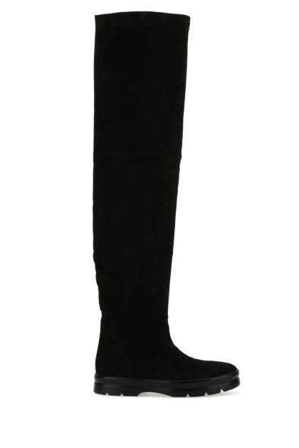 Black leather Billie boots