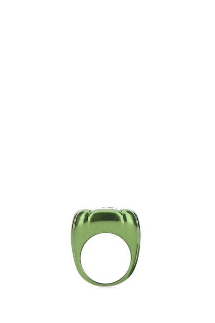 Green metal Dulcis Cocktail ring