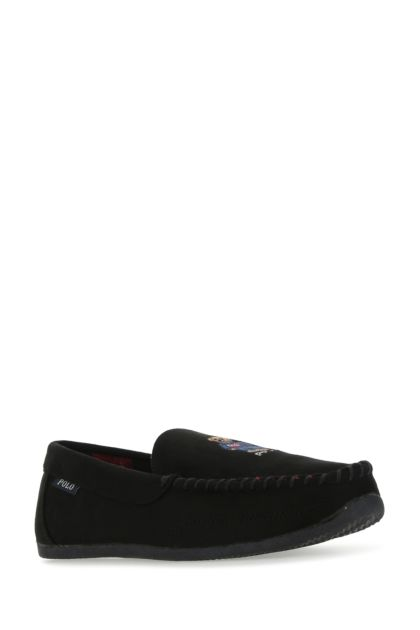 Black synthetic leather Declan loafers