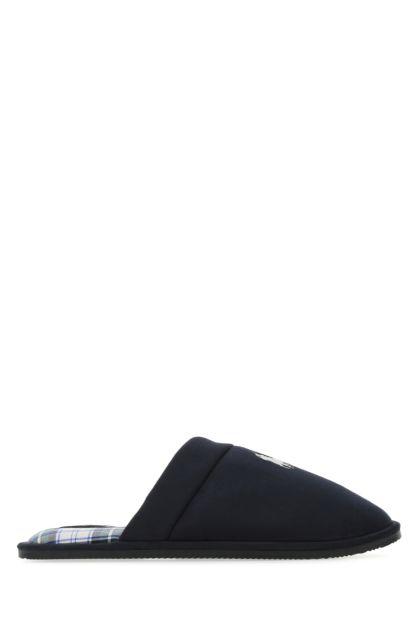 Dark blue fabric slippers