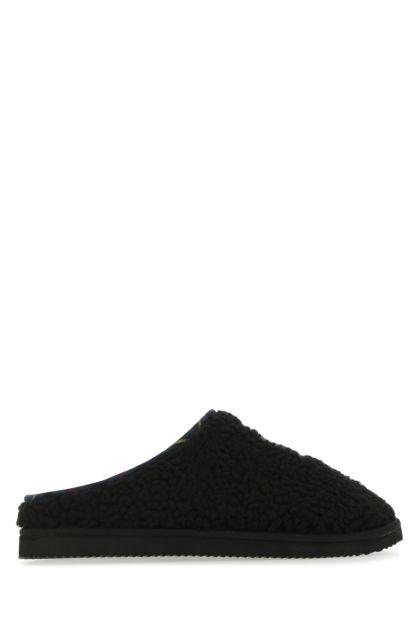 Black eco shearling Charlotte slippers