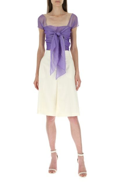 Lilac voile top