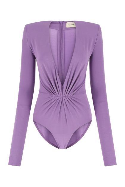 Lilac stretch viscose bodysuit