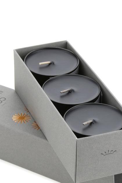 Black Stone tea light scented candles set