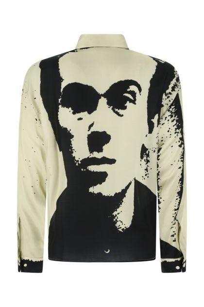 Printed viscose blend shirt