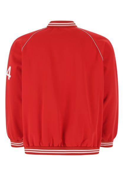 Red polyester sweatshirt