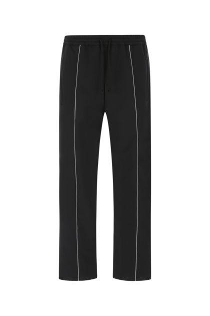 Black polyester joggers