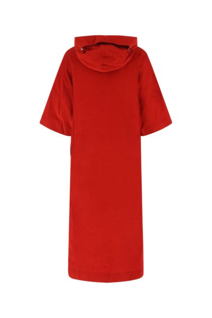 Red velvet oversize sweatshirt dress