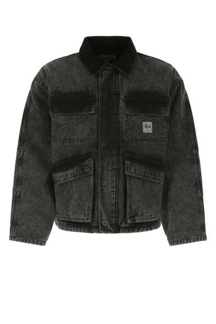 Charcoal denim padded jacket