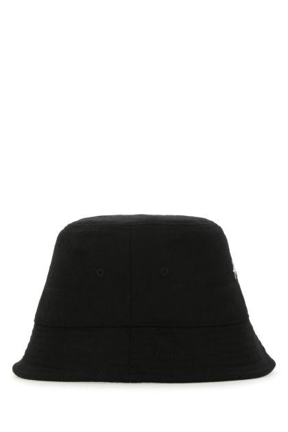 Black wool and viscose hat