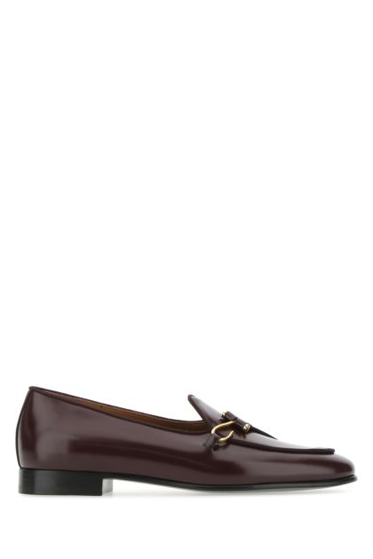 Bordeaux leather Comporta loafers