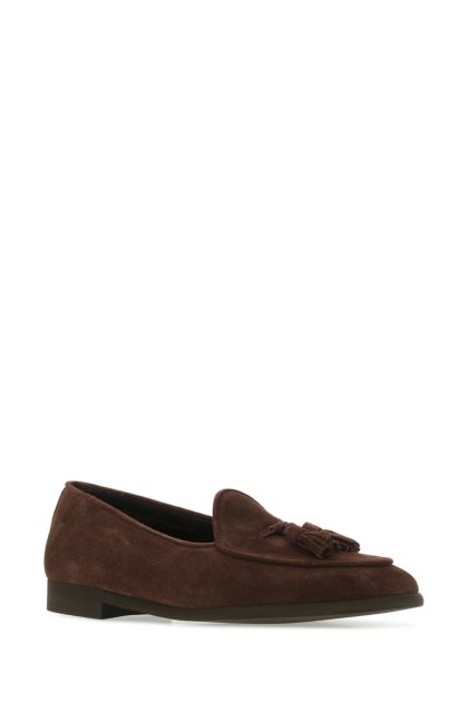 Brown suede leather Marais loafers